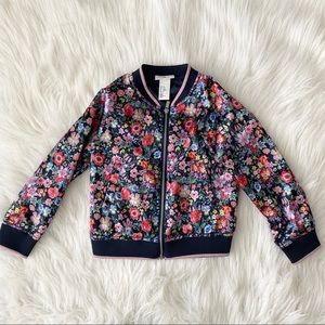 H&M Kids Floral Jacket - Size 3t-4t